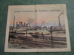 SOCIETE NATIONALE DES PETROLES D'AQUITAINE . Usine De LACQ (dépliant 3 Volets) - Dépliants Touristiques