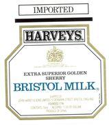 1393 - Espagne - Andalousie - Harveys - Extra Superior Golden Sherry - Bristol Milk - Shipped By John Harvey Bristol - Etiquettes
