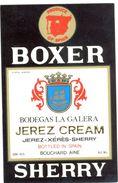 1394 - Espagne - Andalousie - Boxer Sherry - Jerez Cream - Bodegas La Galera Pour Bouchard Ainé - Etiquettes