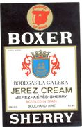 1394 - Espagne - Andalousie - Boxer Sherry - Jerez Cream - Bodegas La Galera Pour Bouchard Ainé - Labels