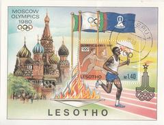 LESOTHO     SCOTT NO. 296       USED      YEAR 1980     SOUV. SHEET - Lesotho (1966-...)