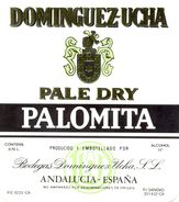 1395 - Espagne - Andalousie - Dominguez-Ucha - Pale Dry Palomita - Bodegas Dominguez Ucha - Andalucia - Etiquettes