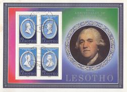 LESOTHO     SCOTT NO. 301       USED      YEAR 1980     SOUV. SHEET - Lesotho (1966-...)