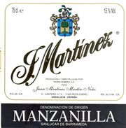 1398 - Espagne - Andalousie - Manzanilla - J. Martinez - Juna Martinez Martin Niño - Rota - Etiquettes