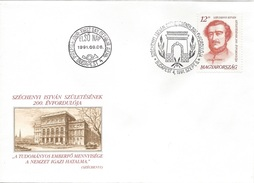 HUNGARY - 1991. FDC - Count István Széchenyi, Founder Of Academy Of Sciences MNH! Mi 4161. - FDC