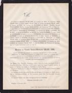 WETTEREN KREMPT Charles VILAIN XIIII Membre CONGRES NATIONAL 1830 CROIX De FER Député 77 Ans 1873 Burgemeester - Todesanzeige