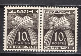 FRANCE  1941 / 1946 - PAIRE  Y.T. N° 67 - NEUFS** /FD440 - Taxes