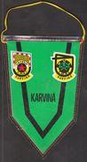 Handball, Hazena / Flag, Pennant / Czechoslovakia / Karvina 1. Maj - Balonmano