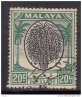 20c Black & Green Kedah Used  1950  Malaya, Malaysia (Sample Image) - Kedah