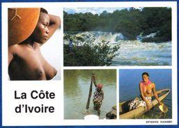Cote D'Ivoire. Les Chuttes De La Nawa, Femme Au Marigot - Costa D'Avorio