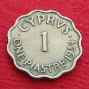 Cyprus 1 Piastre 1934  #0 Chipre Chypre Cipro Zypern - Cyprus