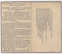 Remi En Henri MESTDAGH - Denys - Ingelmunster - Evere - Oorlogsslachtoffers - 1944 - Obituary Notices