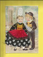 Carte Postale Brodée Bretagne Signée M.C Maichaux Carte Neuve Scanners Recto Verso Éditions JACK 22700 LOUANNEC F20 - France
