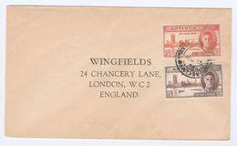 1946 ANTIGUA COVER Stamps VICTORY To GB - Antigua & Barbuda (...-1981)