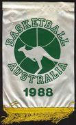 Basketball / Flag, Pennant / Australia 1988 - Habillement, Souvenirs & Autres