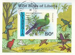 LIBERIA     SCOTT NO. 783      USED      YEAR 1977     SOUV. SHEET - Liberia