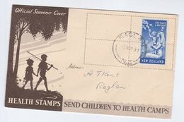 1949 Raglan NEW ZEALAND FDC Stamps CHILDRENS HEALTH , NURSE  Cover Nursing Medicine - FDC