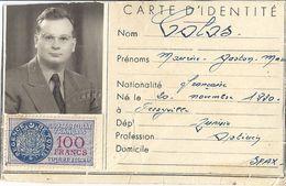 CERTIFICAT D'IMMATRICULATION -AMBASSADE DE FRANCE EN TUNISIE VALABLE DU 17 AU 18 JUILLET 1956 -SFAX - Cartes