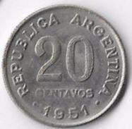 Argentina 1951 20 Centavos [C592/2D] - Argentina
