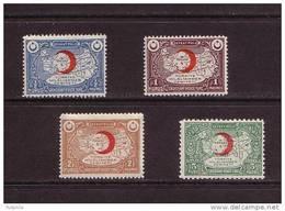 1934-1935 TURKEY TURKISH LEAGUE OF THE RED CRESCENT CHARITY STAMPS MNH ** - 1921-... République
