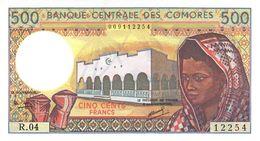 COMOROS P. 10b 500 F 1997 UNC (s. 8) - Comores