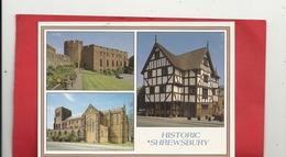 "Cpm. Multivues "" HISTORIC SHREWSBURY "" ECRITE AU VERSO - Shropshire"
