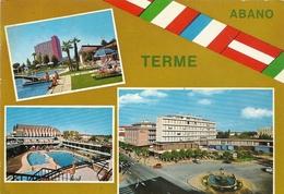 CPM. ALBANO TERME . MULTIVUES AFFR AU VERSO . 2 SCANES - Italie