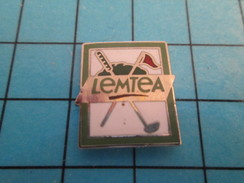 Pin710F Pin's Pins : Rare Et Belle Qualité : SPORTS / GOLF CLUB DRAPEAU LEMTEA - Golf