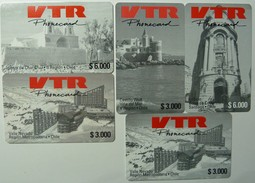 CHILE - VTR - Remote Memory Set Of 5 - Used - Chile