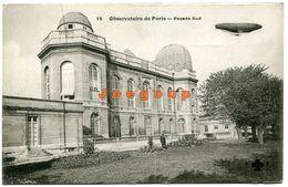 Postale Fleury Observatoire De Paris Facede Sud Francia Zeppelin - Aéroports De Paris