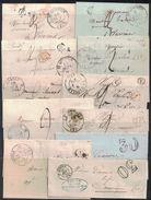 AISNE - ENSEMBLE DE 11 LETTRES ENTRE 1831 ET 1856 - ST QUENTIN - MARLE - CHARLY - LA CAPELLE - VERVINS - HIRSON - (P1) - Marcophilie (Lettres)
