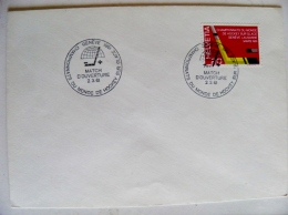 Cover Switzerland Special Cancel 1961 Fdc Ice Hockey Championship - FDC