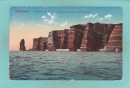 Old Postcard Of Heligoland, Schleswig-Holstein, Germany,V23. - Helgoland