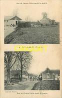 62 Ruyaulcourt, 2 Vues, Rue De L'Arbre L'Athe Avant Et Après Guerre - France