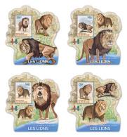IVORY COAST 2014 ** Lions Löwen S/S DELUX - IMPERFORATED - DH1742 - Raubkatzen