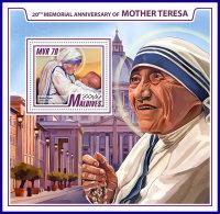 MALDIVES 2017 ** Mother Teresa Mutter Teresa Mere Teresa S/S - OFFICIAL ISSUE - DH1742 - Mother Teresa