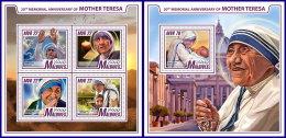MALDIVES 2017 ** Mother Teresa Mutter Teresa Mere Teresa M/S+S/S - OFFICIAL ISSUE - DH1742 - Mother Teresa