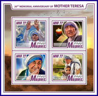MALDIVES 2017 ** Mother Teresa Mutter Teresa Mere Teresa M/S - IMPERFORATED - DH1742 - Mother Teresa