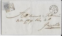 STORIA POSTALE REGNO - ANNULLO NUMERALE A PUNTI DA MANTOVA (p.1) SU PIEGO 11.DIC.1867 PER GAZZOLDO - Marcofilie