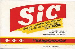 Buvard SIC CHAMPIGNEULLES Limonade Bière - Softdrinks