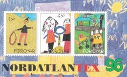 Faroe Islands 1996 Children Drawings Souvenir Sheet  MNH/**  (H26) - Islas Faeroes