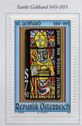 PIA  -  AUTRICHE -  1995  : Millenario Della Morte Di San Guebhart Vescovo Di Costanza - Vetrata -  (Yv   1990) - Vetri & Vetrate