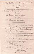 LETTRE M Fernand De FOSSEUX  Divers Lettres MILITAIRE Tableau Que L'OFFICIER SUPÉRIEUR à ÉTABLI . SIGNER - Manuscrits