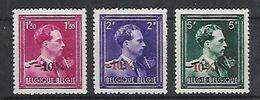 Belg. 1946 - COB N° 724R à 724T * (Charnières) - 1946 -10%