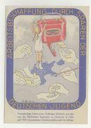 Propagangakarte Künstlerkarte Arbeitsbeschaffung Durch Sparen Der DJ Chemnitz 1937 - Sonderstempel 3. Tag Der Briefmarke - Allemagne
