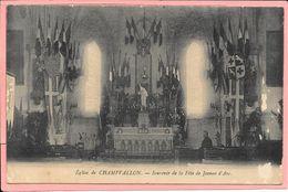 Eglise De Champvallon - Souvenir De La Fète De Jeanne D'Arc - Autres Communes