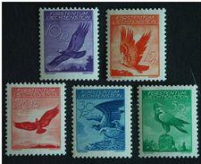 Liechtenstein 1934-36 Aigle Royal Koningsarend Yv PA LP 9-13 MH * Charnière - Luftpost