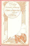 Carte The Comité Des étudiants Américains De L'école Des Beaux Arts De Paris Canon 75 R. Jaudon - Guerre 1914-18