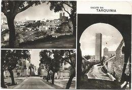 X506 Saluti Da Tarquinia (Viterbo) - Panorama Vedute Multipla / Viaggiata 1969 - Italia