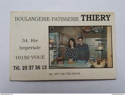 Voué - Route Impériale - Boulangerie - Patisserie Thiery - Cartes De Visite
